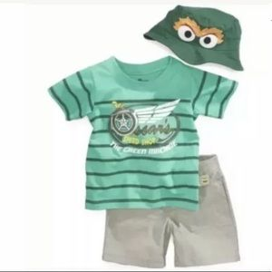 Nannette (New) Sesame Street 3-Pc Set Size 24 M